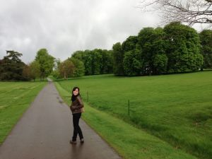 Me by the grazing fields, Blenheim Palace, Oxford